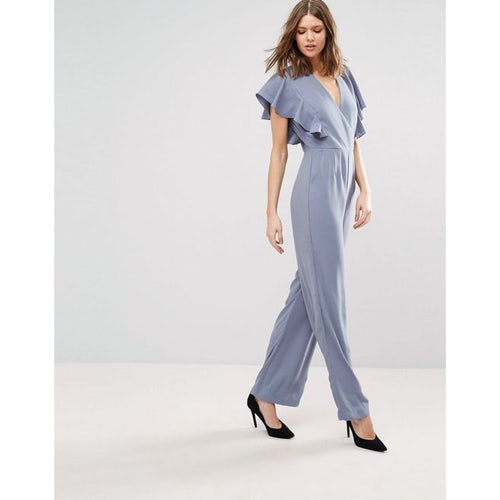 8612a92a646 Y.A.S Tall Milne Frill Detail Jumpsuit