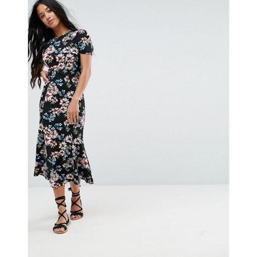 da8445250f5 ASOS WEDDING Lace Long Sleeve Midi Prom Dress - Amaliah