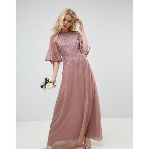 e445c648b27 ASOS WEDDING Lace Applique Flutter Sleeve Maxi Dress - Amaliah