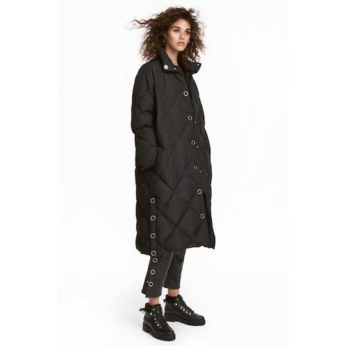 f385293a8 Long down jacket - Black - Ladies   H&M GB
