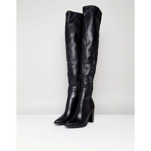 d40a37baed4 ALDO Thirassa Leather Studded Over The Knee Boots