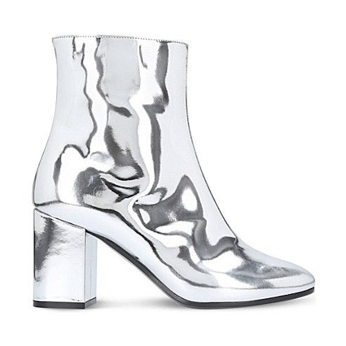 d43d46654d Balenciaga Ville Patent Leather Heeled Ankle Boots