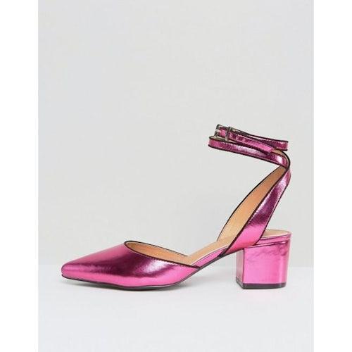 a1e09ffbd3c RAID Ransom Pink Point Ankle Wrap Heeled Shoes - Amaliah