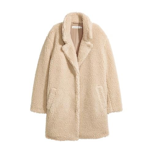 low cost best selling 100% genuine Short pile coat - Beige - Ladies | H&M GB - Amaliah