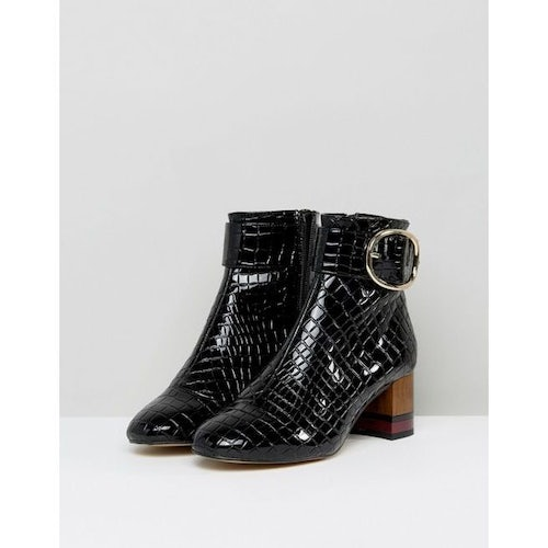 00e9beff1f KG by Kurt Geiger Ringo Croc Effect Block Heeled Ankle Boots - Amaliah