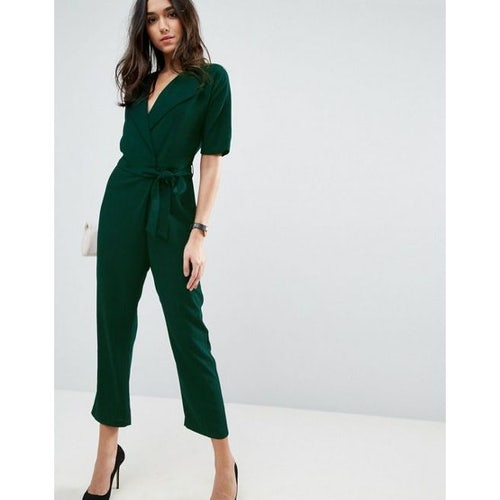 9c0428e868b3 ASOS Wrap Jumpsuit with Self Belt