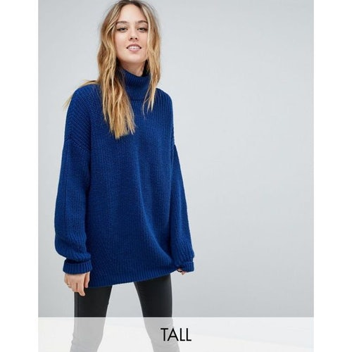 a7724ad28eb Y.A.S Tall Roll Neck Oversized Jumper With Elongated Sleeves