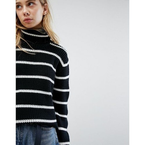 80589702c38 Carhartt WIP Relaxed Roll Neck Jumper With Stripe In Wool Mix