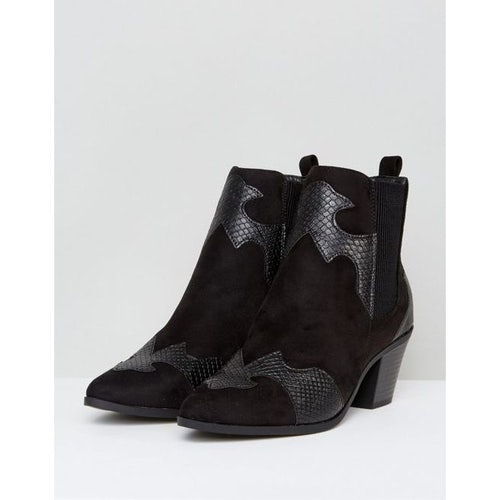 e869769283 New Look Western Snake Effect Detail Ankle Boot