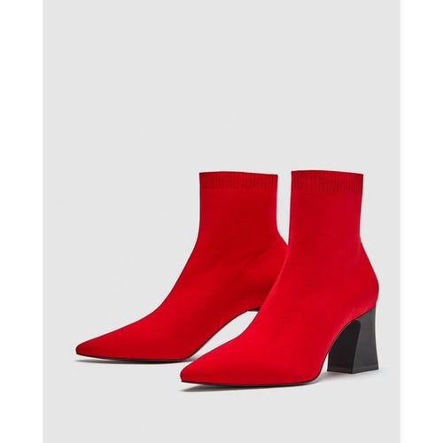 a44b7bfd2c red stretch ankle boots