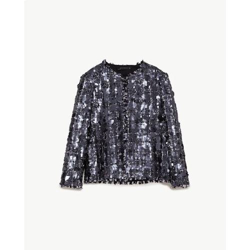 87fb0823 sequinned tweed jacket
