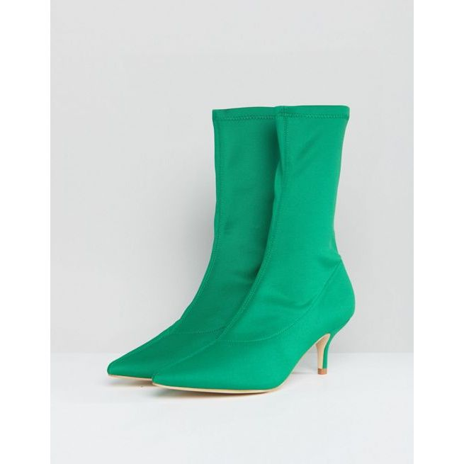 RAID Bria Green Kitten Heel Sock Boots outlet best store to get cheap sale original online cheap authentic wholesale price outlet latest zy7rSlO8